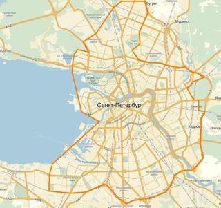 Карта СПб и Лен области